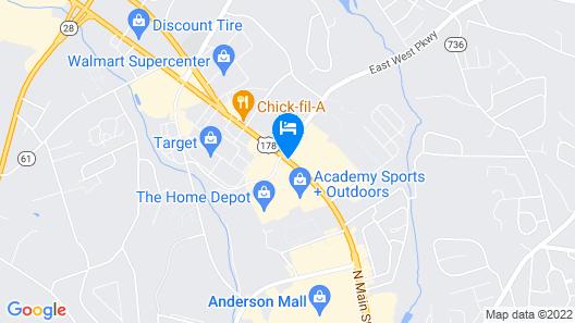 Quality Inn Clemson near University Map