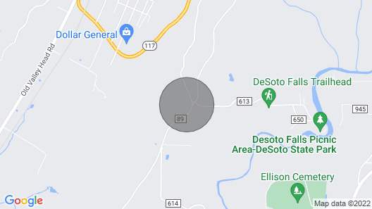 Sunset Hill in Mentone Map