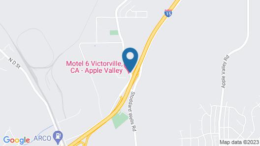 Motel 6 Victorville - Desert Express Map
