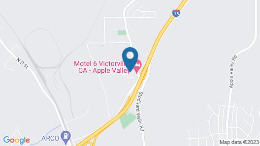 Studio 6 Victorville - Apple Valley Map