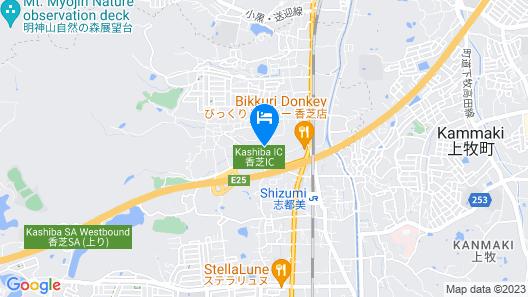 OYO Midori Garden Hotel Nara Kashiba Map