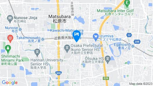 THE CELECTON Abeno-Matsubara Ekimae Map