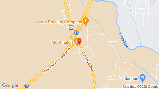 Days Inn by Wyndham Camp Verde Arizona Map