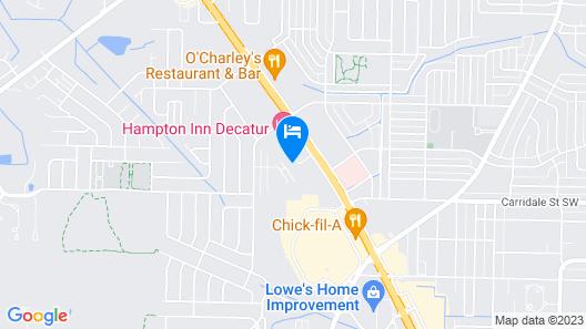 Quality Inn Decatur River City Map