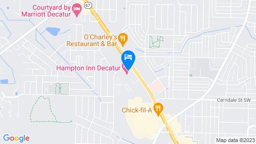 Hampton Inn Decatur Map