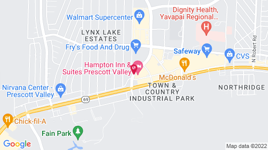 Hampton Inn & Suites Prescott Valley Map
