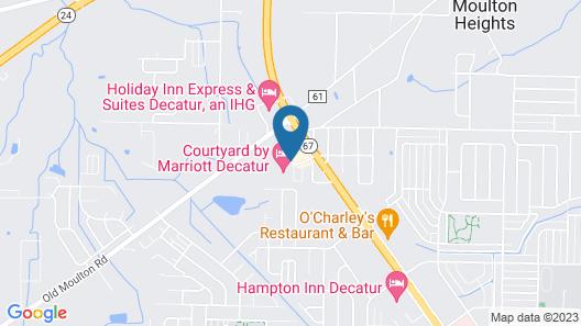 Courtyard by Marriott Decatur Map