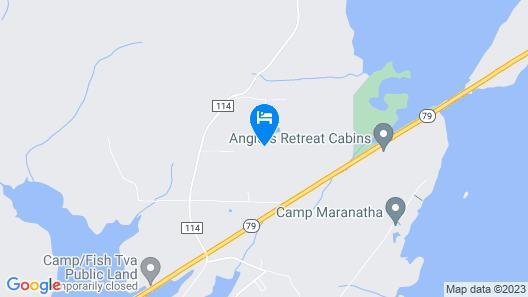 Peaceful Lodge, Private Drive, 2 Boat Garage, Near Launch on Lake Guntersville Map