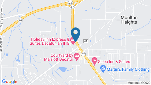 Holiday Inn Express & Suites Decatur, an IHG Hotel Map