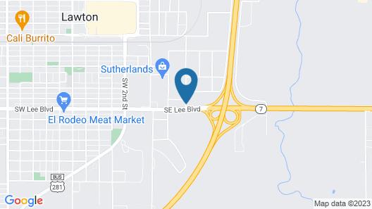 Motel 6 Lawton, OK Map