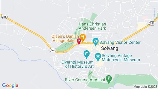 Viking Motel Solvang Map