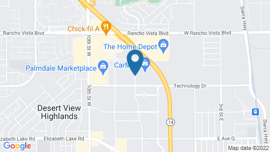 Embassy Suites Palmdale Map