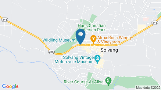 Solvang Inn and Cottages Map