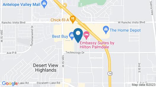 Hampton Inn & Suites Palmdale Map