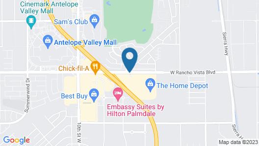 Courtyard Palmdale Map