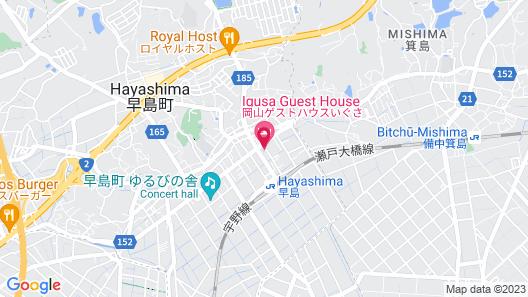 Okayama Hostel Igusa Map