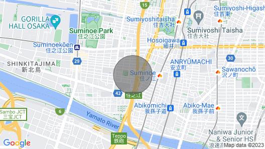 Osaka 2 Story-house, Namba 10mins by bus Map