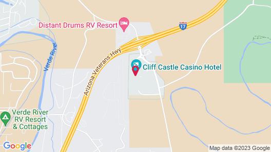 Cliff Castle Casino Hotel Map