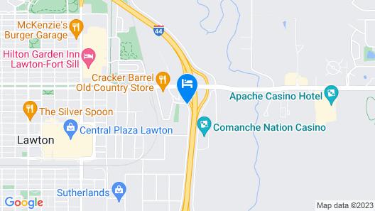 Sleep Inn & Suites Lawton Near Fort Sill Map