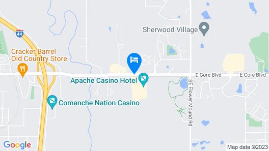 Apache Casino Hotel Map