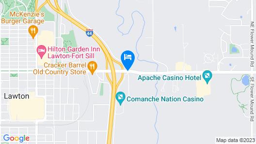 SureStay Plus Hotel by Best Western Lawton Map