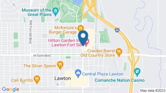Hilton Garden Inn Lawton-Fort Sill Map