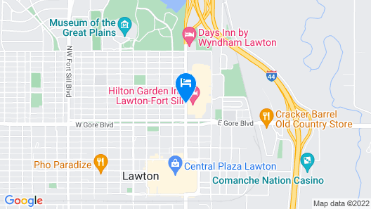 Hilton Garden Inn Lawton-Fort Sill Map