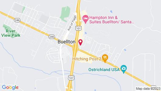 Motel 6 Buellton, CA - Solvang Area Map