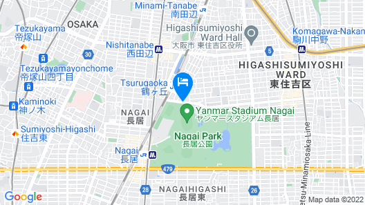 Osaka Municipal Nagai Youth Hostel Map