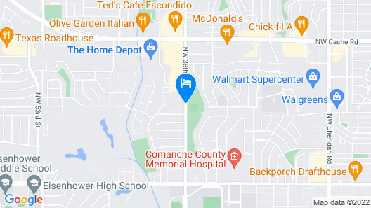 Candlewood Suites Lawton Fort Sill Map