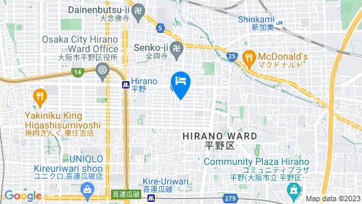 Not Ninja OSAKA HIRANO #1 Map