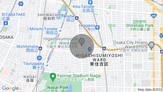 Tennoji Direct Line 10 Minutes 3 LDK - Yu Yu House Yada Frog / Osaka Higashisumiyoshi-ku Osaka Map
