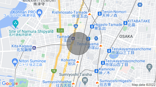 Station 2 Minutes Walk Namba Direct Line - Yu Yu House Powder Beach Sight / Osaka Osaka Map