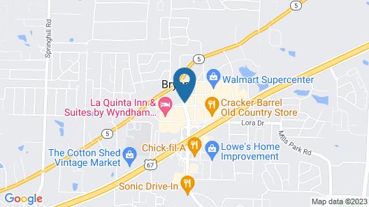 Hampton Inn Bryant Map