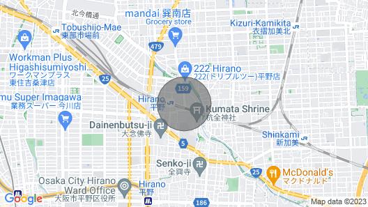 Hirano 10min to Namba. Clean! max 11ppl Map
