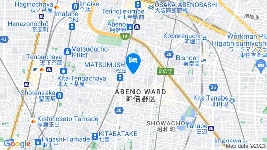 Apollo Weekly Family Apt at Tennoji Map