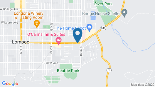 Lotus of Lompoc - A Great Hospitality Inn Map