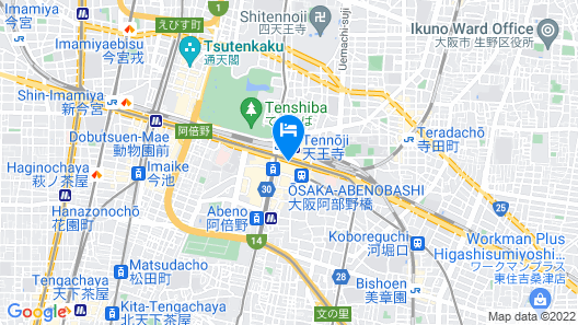 Osaka Marriott Miyako Hotel Map
