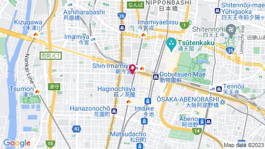 FP HOTELS Grand South-Namba Map