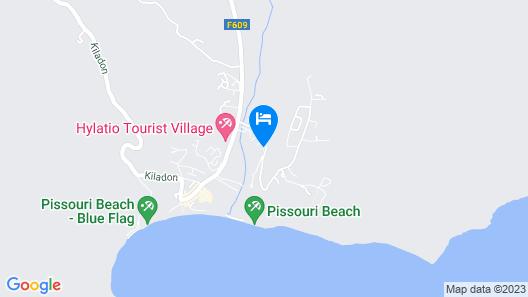 Skeleas Pissouri Apartments Map