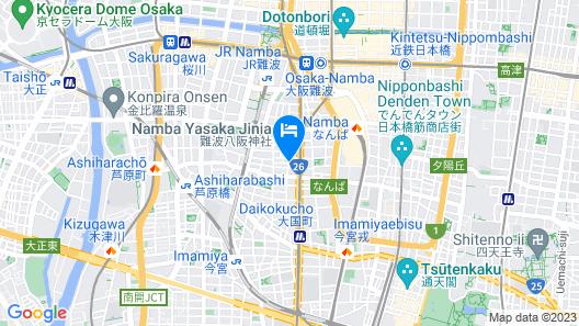 &AND HOSTEL NAMBA Map