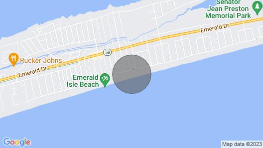 Emerald of the Isle: 12 BR / 11 BA house in Emerald Isle, Sleeps 20 Map