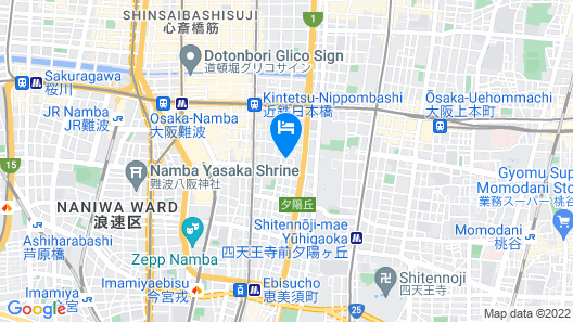 H2O Stay Namba Clover Heights Map