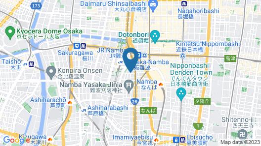 Centurion Hotel CEN Osaka Namba Map