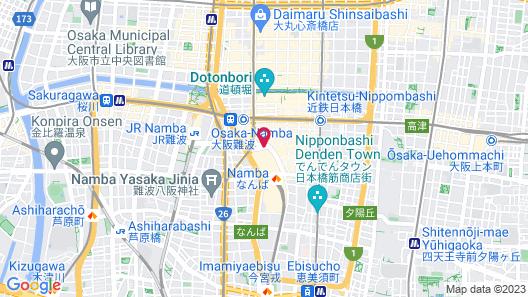 Swissotel Nankai Osaka Map