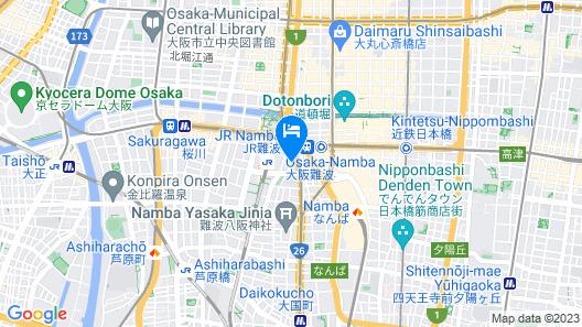 Khaosan World Namba Map