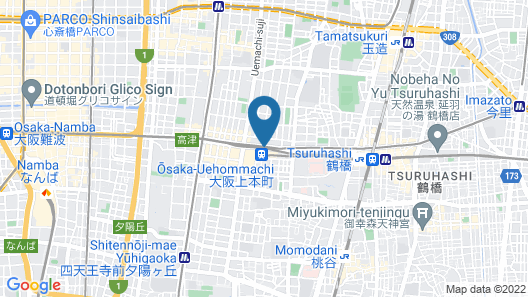 Sheraton Miyako Hotel Osaka Map