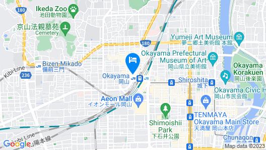 ANA Crowne Plaza Okayama Map