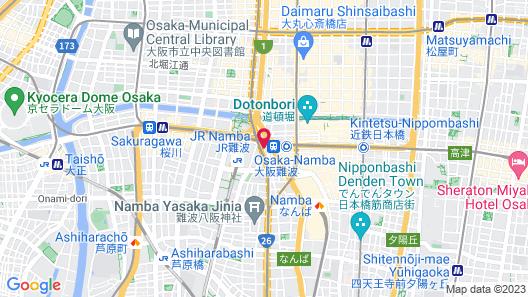 HOTEL KANADE Osaka Namba Map