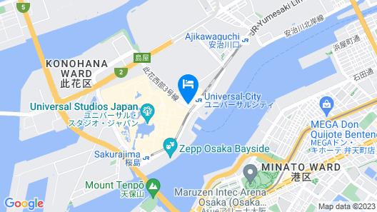 Hotel Keihan Universal Tower Map